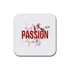 Passion And Lust Grunge Design Drink Coaster (square)