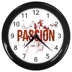Passion And Lust Grunge Design Wall Clock (black)