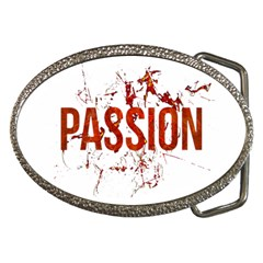 Passion And Lust Grunge Design Belt Buckle (oval)