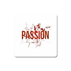 Passion and Lust Grunge Design Magnet (Square)