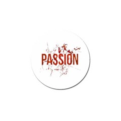 Passion and Lust Grunge Design Golf Ball Marker 4 Pack