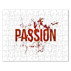 Passion And Lust Grunge Design Jigsaw Puzzle (rectangle)