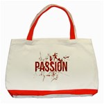 Passion and Lust Grunge Design Classic Tote Bag (Red) Front