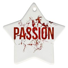 Passion And Lust Grunge Design Star Ornament (two Sides)