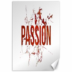 Passion and Lust Grunge Design Canvas 12  x 18  (Unframed)