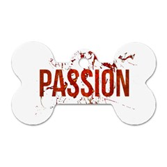 Passion And Lust Grunge Design Dog Tag Bone (one Sided)