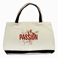 Passion and Lust Grunge Design Twin-sided Black Tote Bag