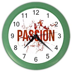 Passion And Lust Grunge Design Wall Clock (color)