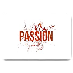 Passion And Lust Grunge Design Large Door Mat