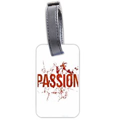 Passion and Lust Grunge Design Luggage Tag (One Side)