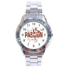 Passion And Lust Grunge Design Stainless Steel Watch