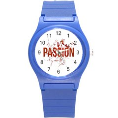Passion And Lust Grunge Design Plastic Sport Watch (small)