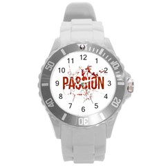 Passion And Lust Grunge Design Plastic Sport Watch (large)