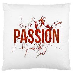 Passion And Lust Grunge Design Large Cushion Case (two Sided)