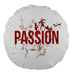 Passion and Lust Grunge Design 18  Premium Round Cushion