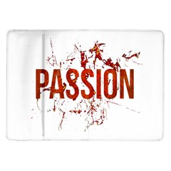 Passion and Lust Grunge Design Samsung Galaxy Tab 10.1  P7500 Flip Case