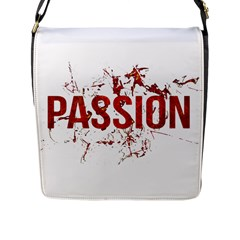 Passion and Lust Grunge Design Flap Closure Messenger Bag (Large)