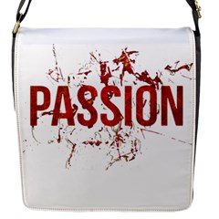 Passion and Lust Grunge Design Flap Closure Messenger Bag (Small)