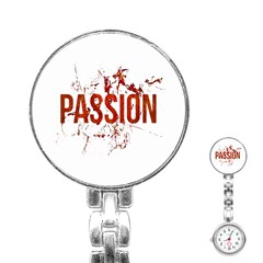Passion and Lust Grunge Design Stainless Steel Nurses Watch