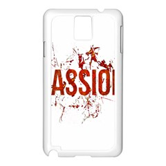 Passion and Lust Grunge Design Samsung Galaxy Note 3 N9005 Case (White)
