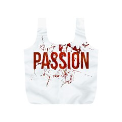 Passion and Lust Grunge Design Reusable Bag (S)