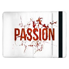 Passion And Lust Grunge Design Samsung Galaxy Tab Pro 12 2  Flip Case