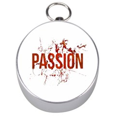 Passion and Lust Grunge Design Silver Compass