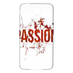 Passion and Lust Grunge Design Samsung Galaxy S5 Back Case (White)
