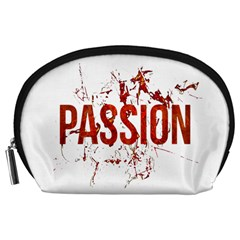 Passion and Lust Grunge Design Accessory Pouch (Large)