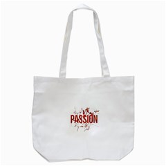 Passion and Lust Grunge Design Tote Bag (White)