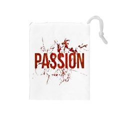Passion and Lust Grunge Design Drawstring Pouch (Medium)