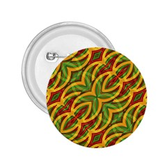 Tropical Colors Abstract Geometric Print 2 25  Button