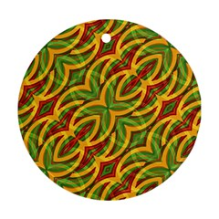 Tropical Colors Abstract Geometric Print Round Ornament