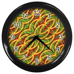 Tropical Colors Abstract Geometric Print Wall Clock (black)