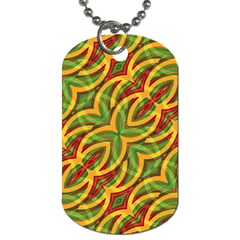 Tropical Colors Abstract Geometric Print Dog Tag (Two-sided)