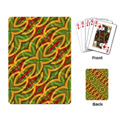 Tropical Colors Abstract Geometric Print Playing Cards Single Design