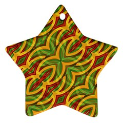 Tropical Colors Abstract Geometric Print Star Ornament (Two Sides)