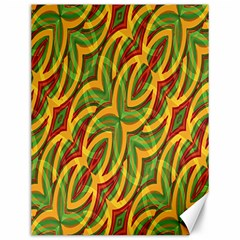 Tropical Colors Abstract Geometric Print Canvas 12  x 16  (Unframed)