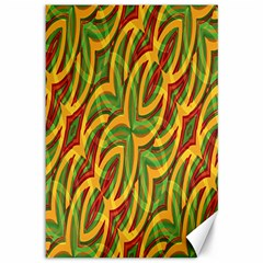 Tropical Colors Abstract Geometric Print Canvas 12  x 18  (Unframed)