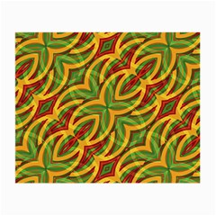 Tropical Colors Abstract Geometric Print Glasses Cloth (Small, Two Sided)