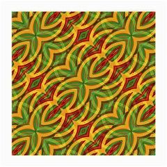 Tropical Colors Abstract Geometric Print Glasses Cloth (medium, Two Sided)