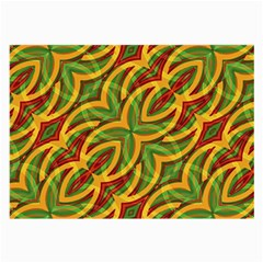 Tropical Colors Abstract Geometric Print Glasses Cloth (Large, Two Sided)