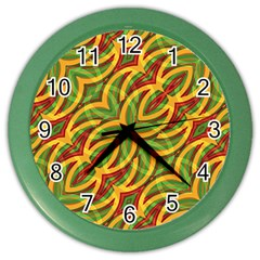 Tropical Colors Abstract Geometric Print Wall Clock (Color)