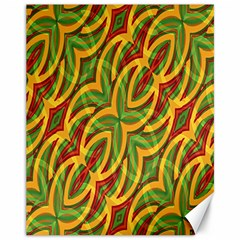 Tropical Colors Abstract Geometric Print Canvas 11  X 14  (unframed)