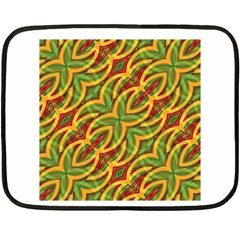 Tropical Colors Abstract Geometric Print Mini Fleece Blanket (two Sided)