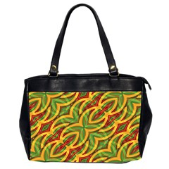 Tropical Colors Abstract Geometric Print Oversize Office Handbag (two Sides)
