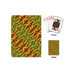 Tropical Colors Abstract Geometric Print Playing Cards (mini)