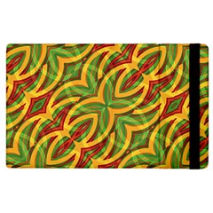 Tropical Colors Abstract Geometric Print Apple Ipad 3/4 Flip Case