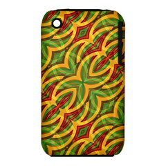 Tropical Colors Abstract Geometric Print Apple iPhone 3G/3GS Hardshell Case (PC+Silicone)