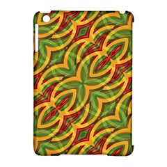 Tropical Colors Abstract Geometric Print Apple iPad Mini Hardshell Case (Compatible with Smart Cover)